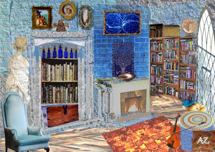 'Ravenclaw Common Room, Library Area' by Antonia Sara Zenkevitch