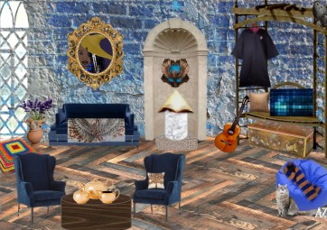 Ravenclaw Common Room Seating Area by Antonia Sara Zenkevitch